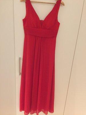 Chiffon jurk rood