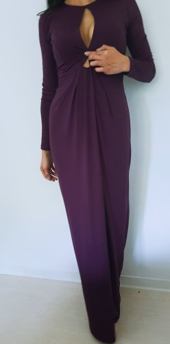 Cut Out Dress brown violet