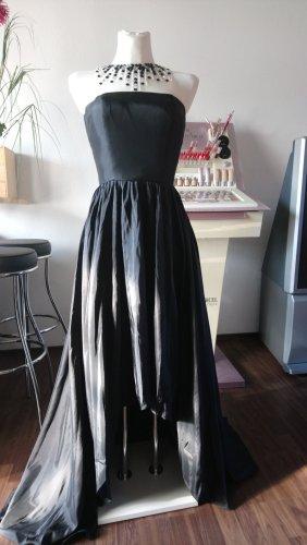 Langes Abendkleid Vokuhila schwarz