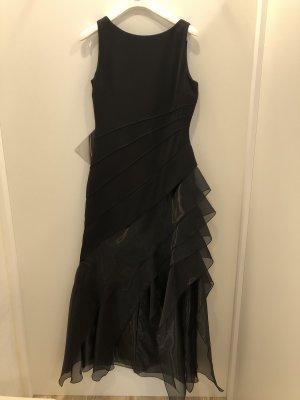 Rinascimento Vestido de baile negro tejido mezclado