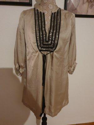H&M Silk Blouse black-beige