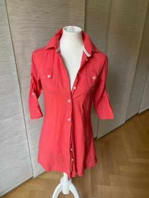 Langes Blusenhemd von Polo Sylt, Korallrot