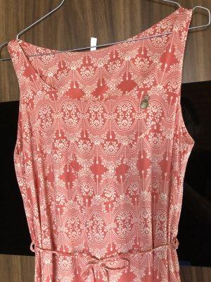 Blutsgeschwister Vestido largo blanco puro-rosa Viscosa