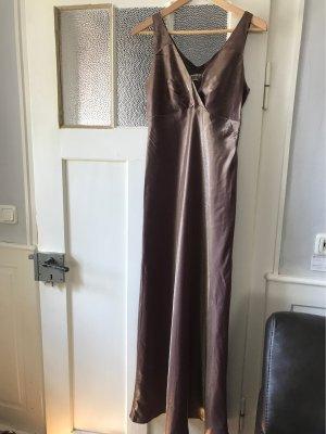Langes Bronze Abendkleid