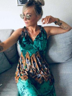 ⋙•-•-•-•➤ Langes Damen Kleid / Maxikleid Off Shoulder Sommerkleid Neu m. Etikett S-M ◉