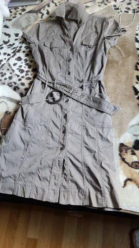 Langes Damen Kleid mit Gürtel