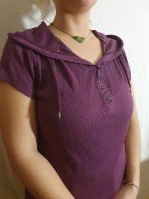 Conleys Prążkowana koszulka purpurowy-ciemny fiolet