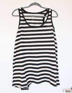 H&M Lange top zwart-wit Polyester