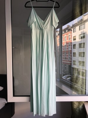 Langes hell Türkises Kleid | Plissee