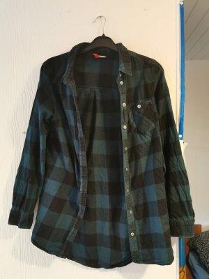H&M Divided Vestido tipo blusón negro-petróleo