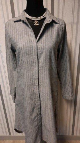 Długa bluzka szary-jasnoszary Bawełna