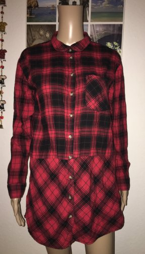 H&M Divided Lumberjack Shirt dark red