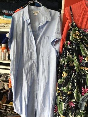 Monki Camicia a maniche corte azzurro Cotone