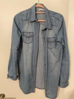 Langes Jeans Hemd/Kleid