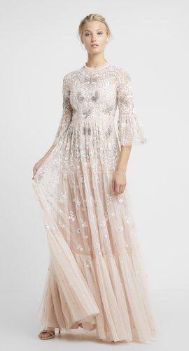 langes Kleid bestickt Tüll Abendkleid Fee Prinzessin märchenhaft Libelle