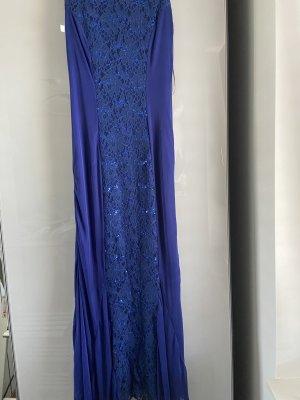 Langes Kleid blau