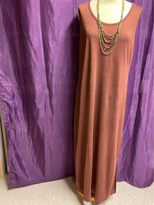 Langes Kleid braun ohne Arm 46