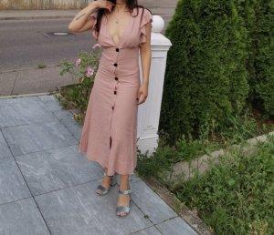 Zara Robe mi-longue rose