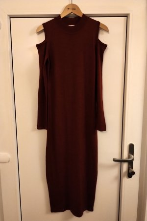 Belle Vere Robe en laine rouge carmin