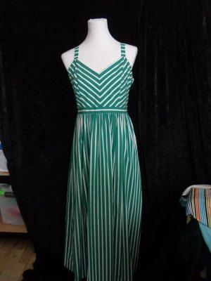 Langes Kleid Gr. 38 von dress lounge in grün/weiß