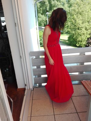 Chi Chi London Evening Dress red polyester