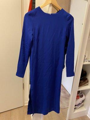 Langes Kleid in Königsblau