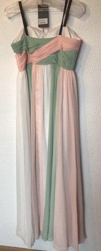 Langes Kleid in Pastellfarben
