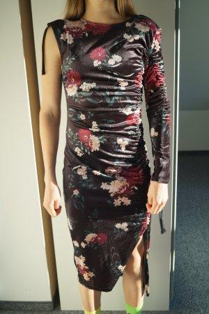 Bershka Sukienka na jedno ramię Wielokolorowy Poliester
