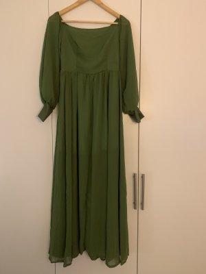 Szyfonowa sukienka khaki