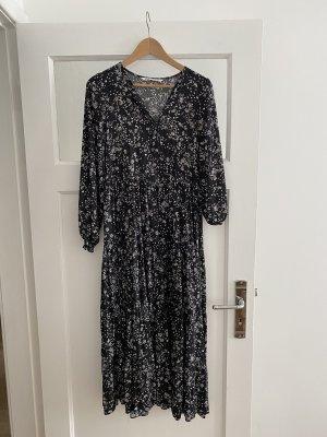 Langes Kleid mit Blumenprint von Zara, Gr. S