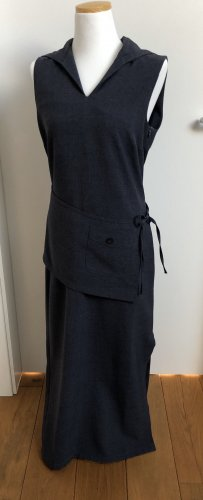 Melrose Vestido con capucha gris pizarra