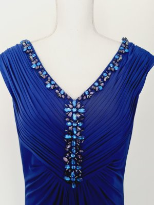 langes Kleid mit V Ausschnitt Abendkleid  von asley brooke 46