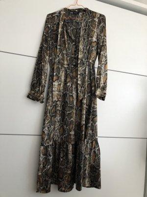 Langes Kleid Schlangenmuster