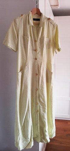 Hauber Koszulowa sukienka bladożółty-jasnożółty Bawełna
