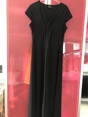 Langes Kleid vorne geschlitzt gerader Schnitt