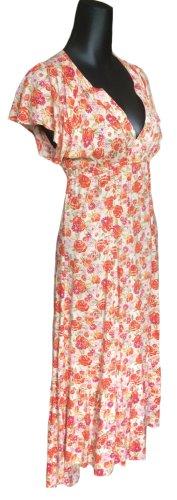 Langes leichtes sommerliches Kleid mit Blumen-Print