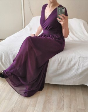Langes Lila Chiffon Kleid