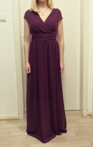 Langes Lila Chiffonkleid