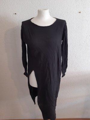 Zara Camisa larga gris antracita