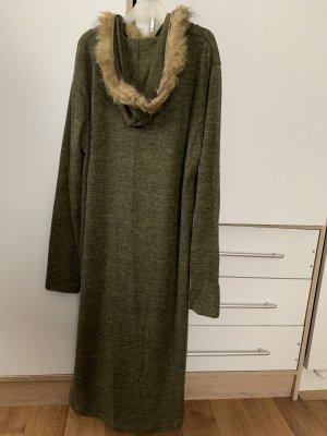 Cardigan long gris vert