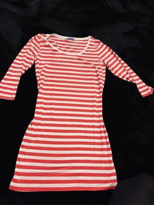 aus Italien Lang shirt wit-framboosrood
