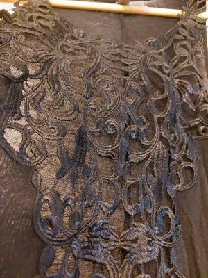 H&M Divided Haut en crochet noir