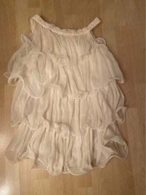 Rohmir Top z falbanami w kolorze białej wełny