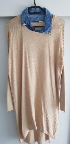 Swetrowa sukienka jasnobeżowy