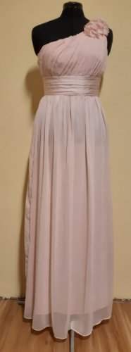 H&M One Shoulder Dress pink polyester