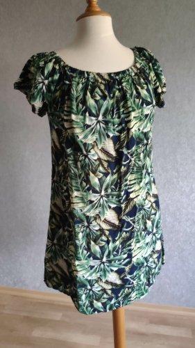 Fresh Brand Sukienka o kroju koszulki niebieski-zielony