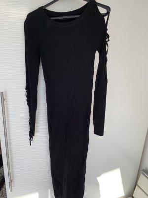 Langes Pulli Kleid schwarz