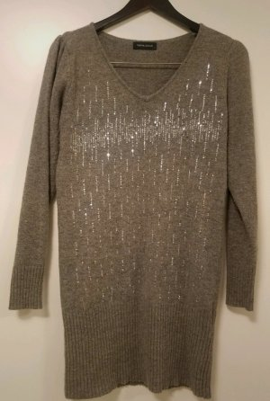 Langes Pulloverkleid mit Pailletten (L)
