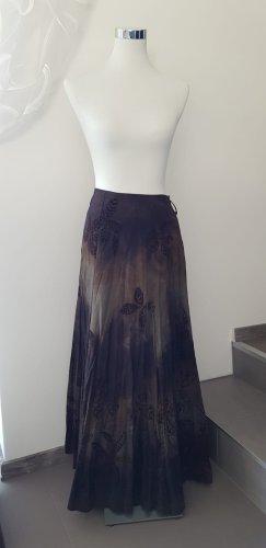Maxi Skirt dark brown-beige
