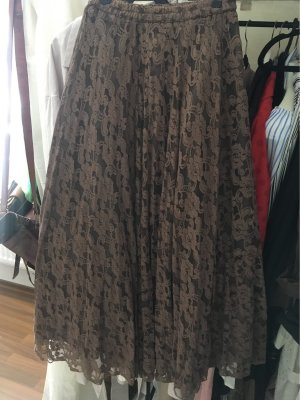 Lace Skirt black brown-taupe